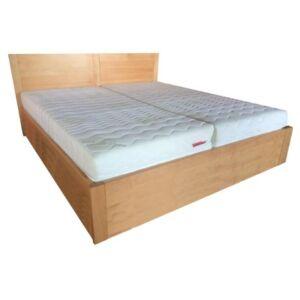 Dorottya bükk ágyneműtartós ágykeret fix ráccsal