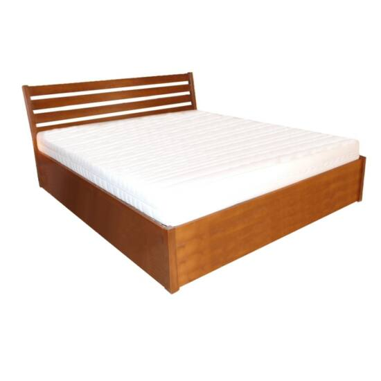 Léda bükk ágyneműtartós ágykeret rugalmas ráccsal 90x200