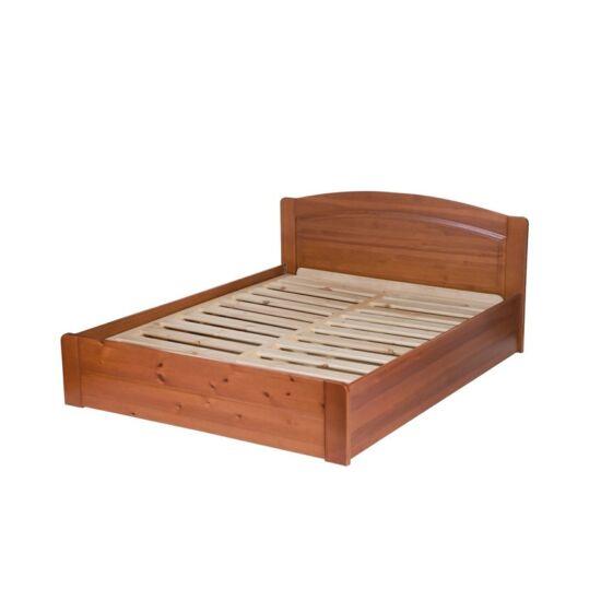 Péter bükk ágyneműtartós ágykeret rugalmas ráccsal 90x200