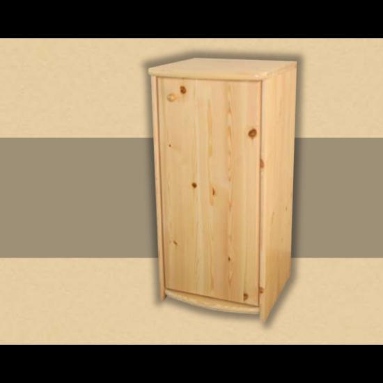 Anita 1 ajtós 73cm magas komód natúr lakkozott