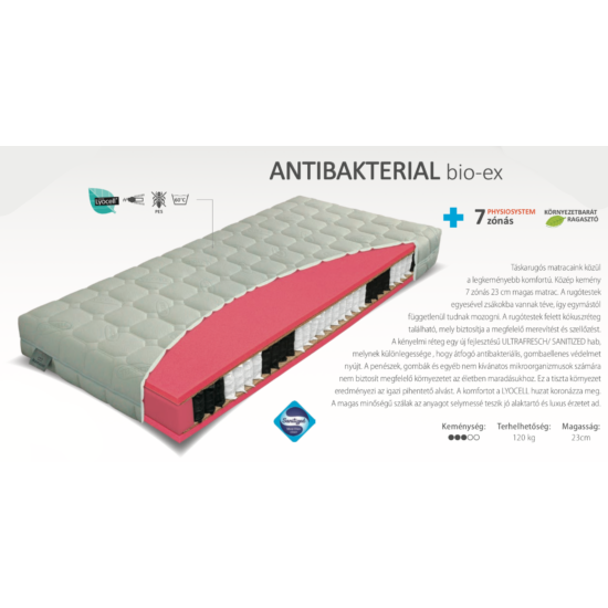 Antibakteriál Bio-Ex matrac 180x200