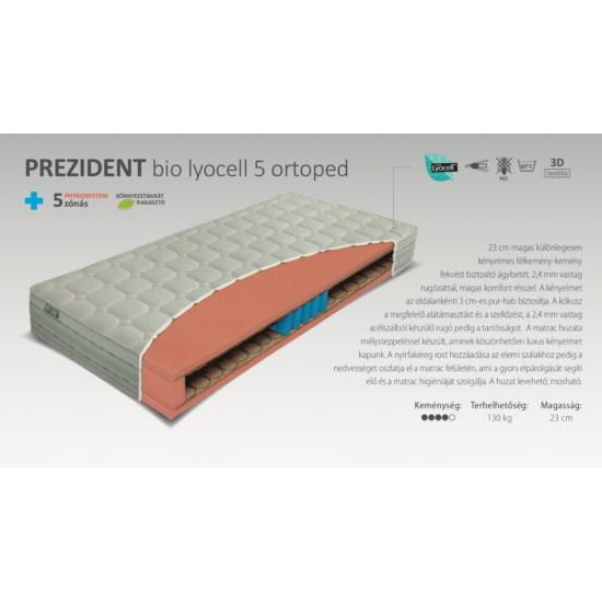 Prezident Bio Lyocell 5 Ortopéd matrac 90x200