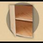 Kép 2/2 - Anita nyitott sarok komód 68x57x68 natúr lakkozott