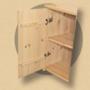 Kép 2/2 - Anita 1 ajtós 73cm magas komód natúr lakkozott