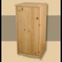 Kép 1/2 - Anita 1 ajtós 90cm magas komód natúr lakkozott