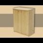 Kép 1/2 - Anita 2 ajtós 73cm magas komód natúr lakkozott