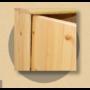 Kép 2/2 - Anita 2 ajtós, 90cm magas komód natúr lakkozott