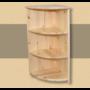 Kép 1/2 - Anita sarokzáró elem 90cm natúr lakkozott