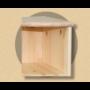 Kép 2/2 - Anita sarokzáró elem 90cm natúr lakkozott