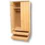 Kép 2/4 - Tamás 2 ajtós 2 fiókos akasztós polcos szekrény
